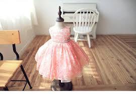 blush pink flower dress baby dress bridesmaid dress toddler