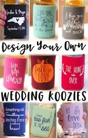 wedding koozie ideas personalized southern state wedding koozies available in several