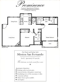 Mission San Jose Floor Plan by Prominence Apartments