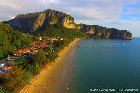 ao nang krabi thailand has few beach front hotels this is a