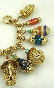 gold plated charm bracelet chain images Napier chinese lanterns charm bracelet garden party collection jpg