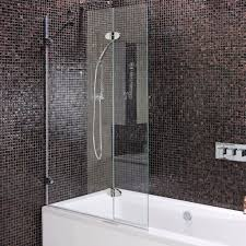 mirabella frameless bath half screen or with hinge for guest mirabella frameless bath half screen or with hinge for guest room baths instead of shower curtains