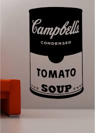 andy warhol style soup tin pop art wall art quote sticker vinyl
