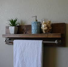 Brushed Nickel Bathroom Shelves by Simply Modern Rustic Bathroom Shelf W 24