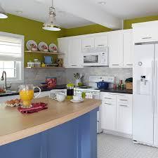 Modern Kitchen With White Appliances Modern Kitchen Makeover