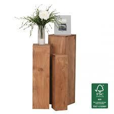 Wohnzimmertisch Quadratisch Finebuy Beistelltisch 3er Set Massivholz Akazie Wohnzimmertisch