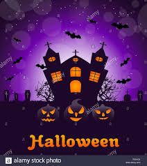 poster banner or background for halloween party night with