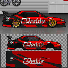 pixel race car greddy nitto tires drift r32 pixelcarracer