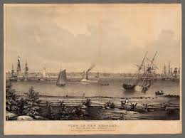 American Flag 1845 Fitz Henry Lane View Of New Bedford From The Fort Near