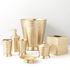 Gold Bath Accessories Bathroom Decor - Bathroom design accessories