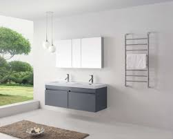 abersoch 55 inch wall mounted double sink bathroom vanity white finish