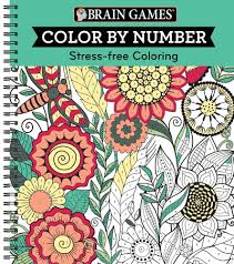 amazon com brain games color by number stress free coloring