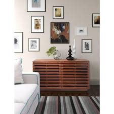 zuo linea walnut storage cabinet 199051 the home depot
