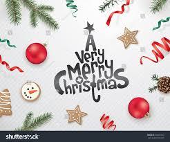 christmas greeting design ribbons christmas ornaments stock vector