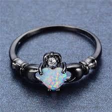 opal stone rings images White rainbow opal dark ring ess6 fashion jpg