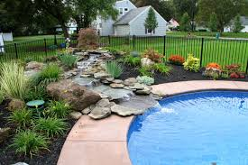 Pool Landscape Pictures by Nature U0027s Accents Landscaping Beautfiul Water Features In Rochester
