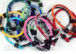 balance bracelet images 200pcs titanium dual sport single loop balance bracelet wristband jpg