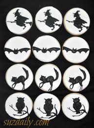 silhouette halloween cookies suz daily