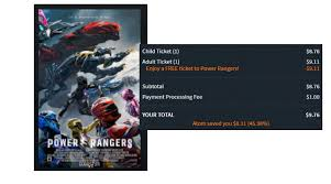 buy free power ranger tickets select theaters
