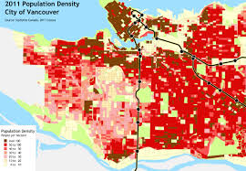 Map Vancouver Canada by Vancouver U0027s East West Divide Population Density Political Clout