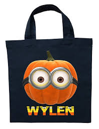 minion trick or treat bag personalized minion halloween bag