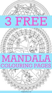 free mandala colouring pages for adults mandala coloring