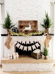 rustic glam home decor christmas fireplace decor image of fireplace decoration christmas