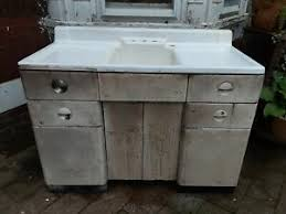 cabinet kitchen sink details about vintage 1939 white porcelain 50 with metal cabinet kitchen farm sink deco