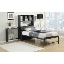 Twin Bed With Pull Out Bed Bed W Pull Out Desk U0026 Bookshelf
