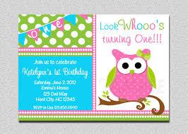 Free First Birthday Invitation Cards Owl Birthday Invitation Owl Birthday Party Invitation