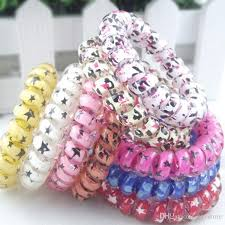 bobbles hair 2018 mix color leopard big size hair rings telephone wire hair