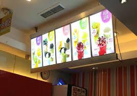 restaurants with light menus custom acrylic fabrication acrylic displays led light boxes custom