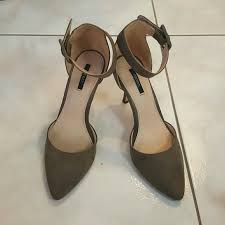 75 off forever 21 shoes forever 21 grey suede 3 inch heels from
