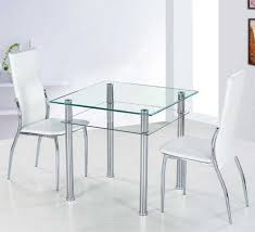 Small Glass Dining Room Tables Small Glass Dining Table With Metal Table Legs Ideas Home