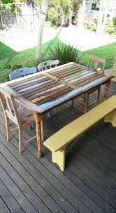 Patio Furniture With Pallets - pallet revamped dining furniture set 99 pallets