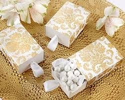personalized wedding favor boxes gold damask favor box wedding favor containers by kate aspen