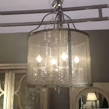 Glass Droplet Ceiling Light by Riveted Metal Mesh Round Chandelier With Glass Droplets By Cowshed
