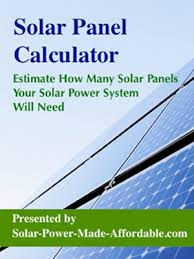 Solar Panels Estimate by Solar Power Information