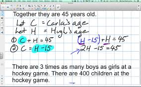 creating equations from word problems grade 9 academic lesson 3 4