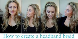 braid band how to do a band braid with voluminous hair great for