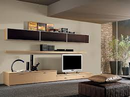 decor ottoman and area rug with wall mounted tv unit designs also