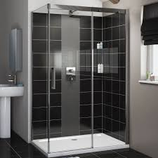 1200mm Shower Door Cooke Lewis Carmony Rectangular Shower Enclosure Tray Waste