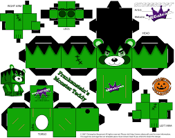 frankenteddy template halloween cubeecraft by skgaleana on deviantart
