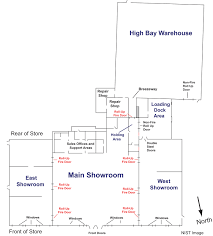 Floor Plan Of The Office Nist Study On Charleston Furniture Store Fire Calls For National