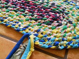 diy how to make a braided fabric rug youtube crafts