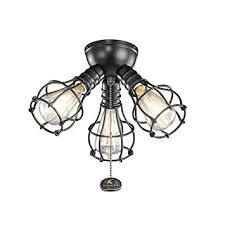 Kichler 370041sbk Industrial Ceiling Fan Light Kit In Satin Black 3