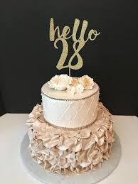 hello wedding cake topper any number gold glitter hello 28 cake topper 28th birthday