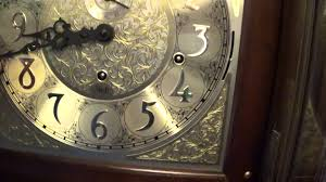 Ethan Allen Grandfather Clock Sligh Grandfather With Burled Top 001 Youtube