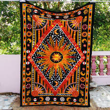 Sun And Moon Bedding Hippie Bedding Twin Bohemian Tapestry From Craftjaipur On Etsy