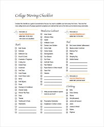 sample moving checklist 7 documents in word pdf
